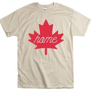 Tops - Home Canada Maple Leaf T-Shirt Canadian